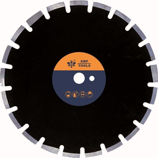 Asphalt Abrasive  14 Inch  Diamond Concrete Saw Blade  by Wide U Protect Teeth Laser Welded